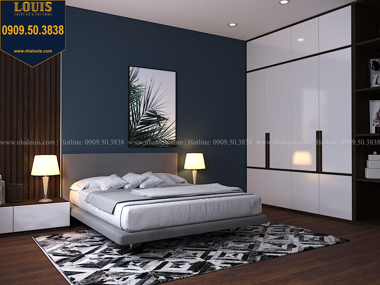 Phòng ngủ Mẫu biệt thự 3 tầng hiện đại với không gian mở ở quận 12 - 052