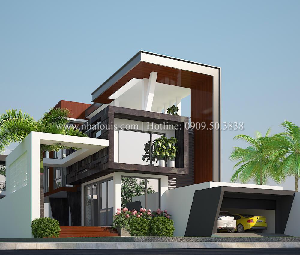 Thiết kế mẫu biệt thự 3 tầng hiện đại không gian mở ở quận 12