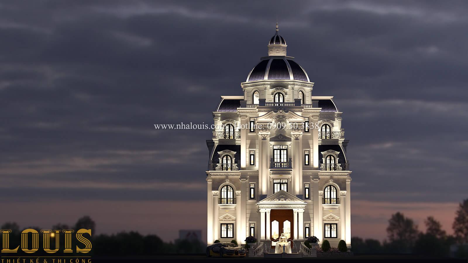 Mặt tiền Biệt thự lâu đài 5 tầng tân cổ điển - 01