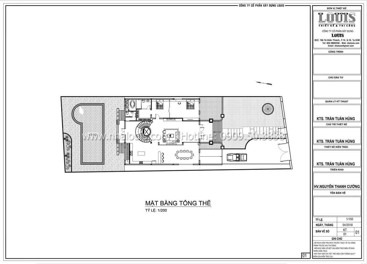 Mặt bằng tổng thể Biệt thự 5 tầng tân cổ điển đậm chất quý tộc tại Khánh Hòa - 11