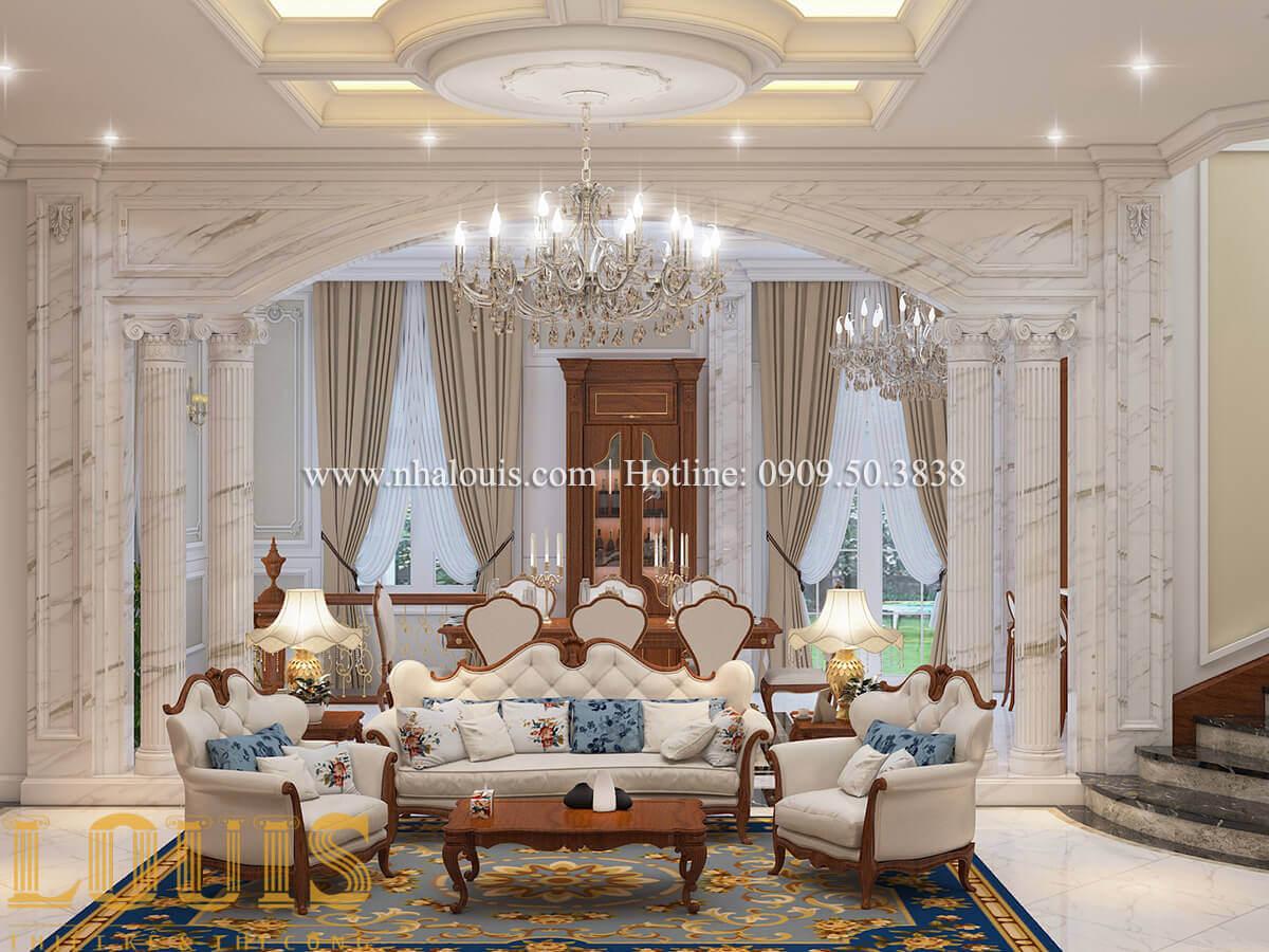Phòng khách Biệt thự lâu đài kiểu Pháp quyền quý và đẳng cấp tại Khánh Hòa