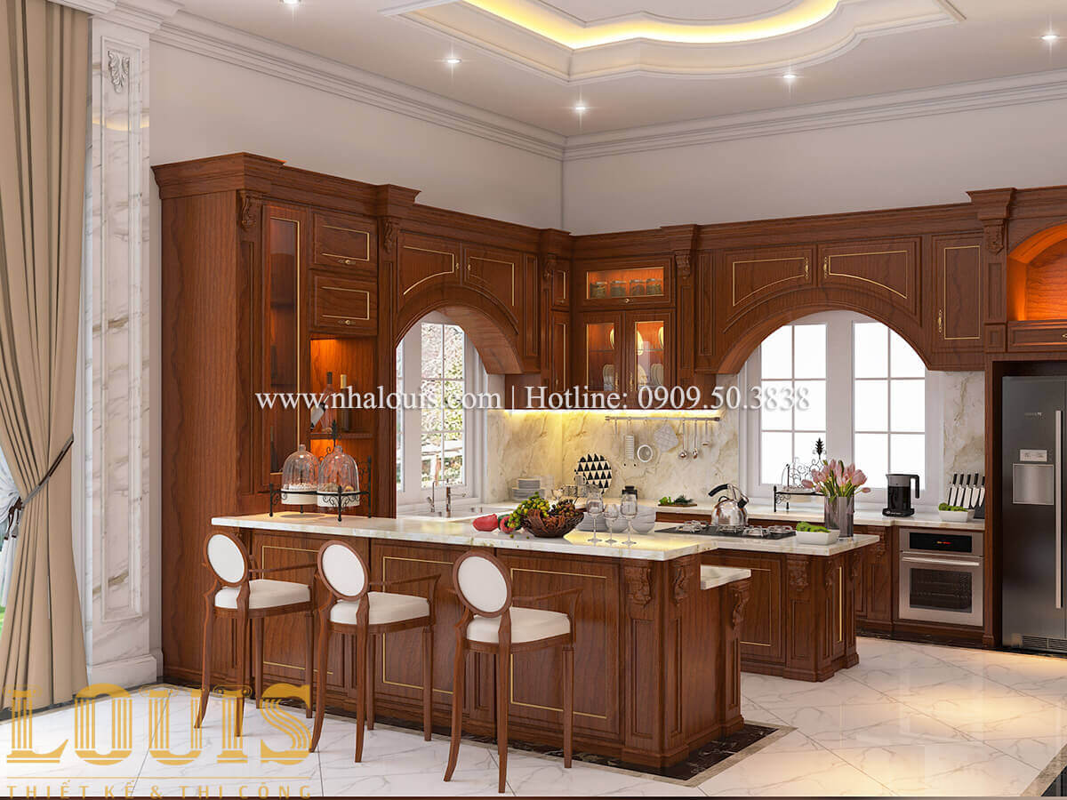 Bếp Biệt thự lâu đài kiểu Pháp quyền quý và đẳng cấp tại Khánh Hòa
