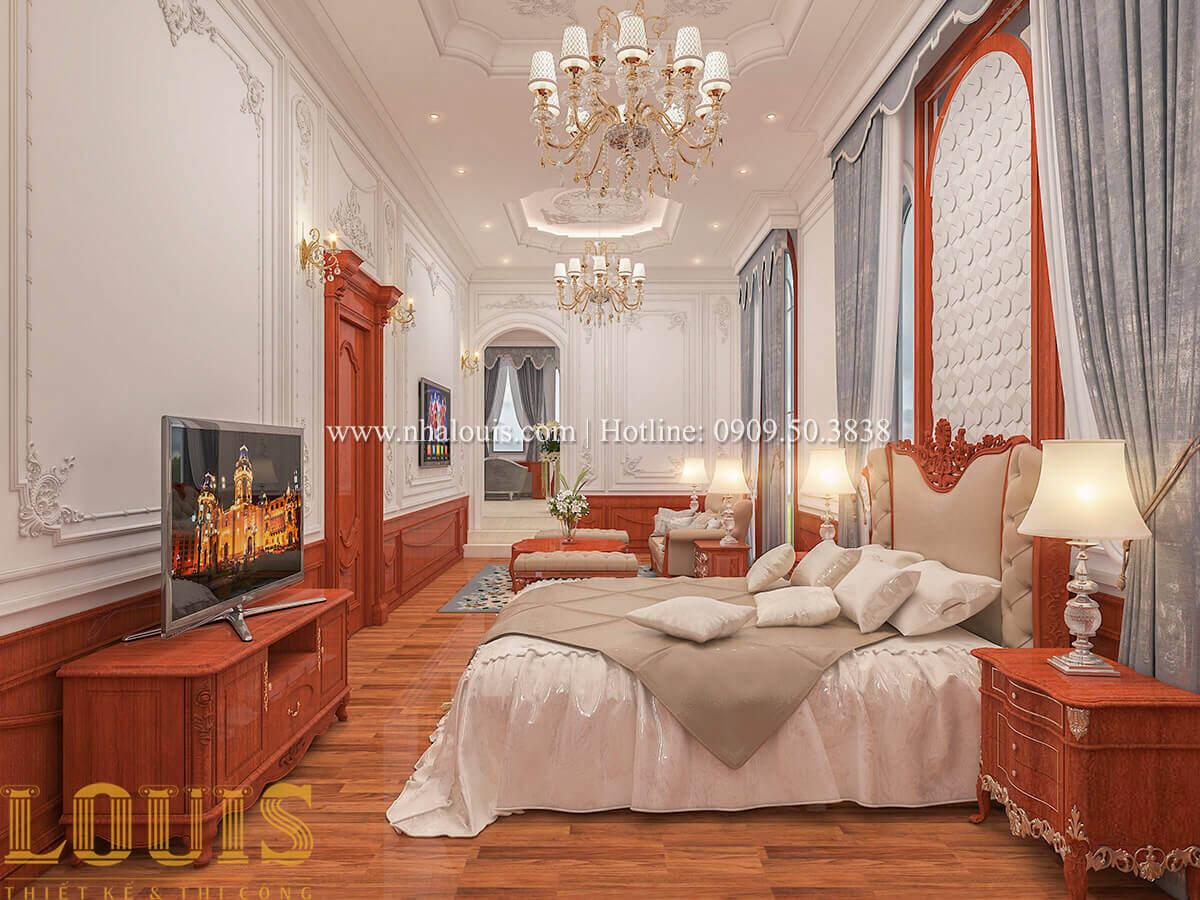 Phòng ngủ master Biệt thự lâu đài kiểu Pháp quyền quý và đẳng cấp tại Khánh Hòa