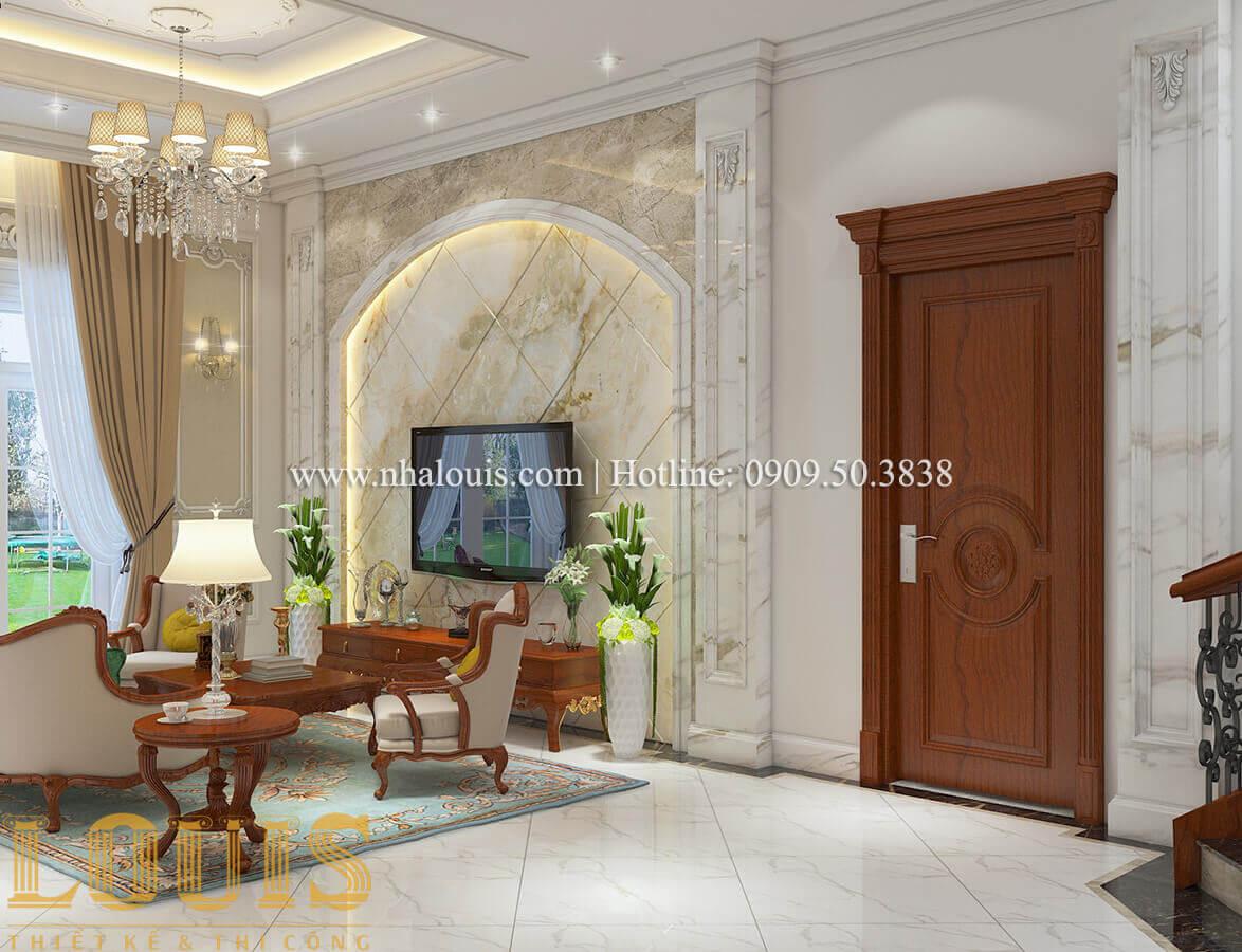 Phòng sinh hoạt chung Biệt thự lâu đài kiểu Pháp quyền quý và đẳng cấp tại Khánh Hòa