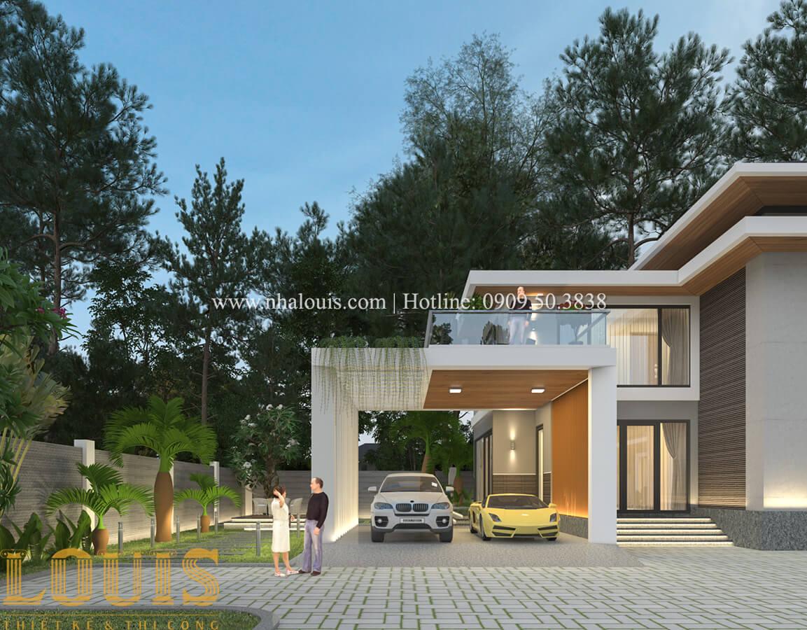 Gara biệt thự 2 tầng mái thái đẹp hiện đại - 12