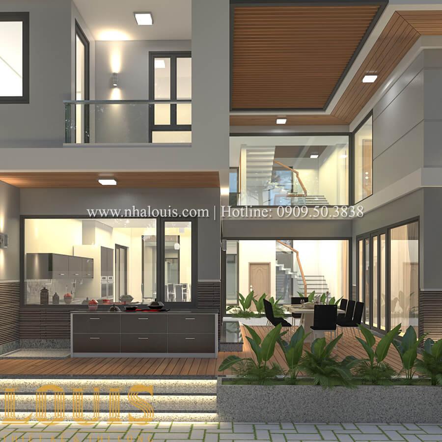 Mặt tiền biệt thự 2 tầng mái thái đẹp hiện đại - 13