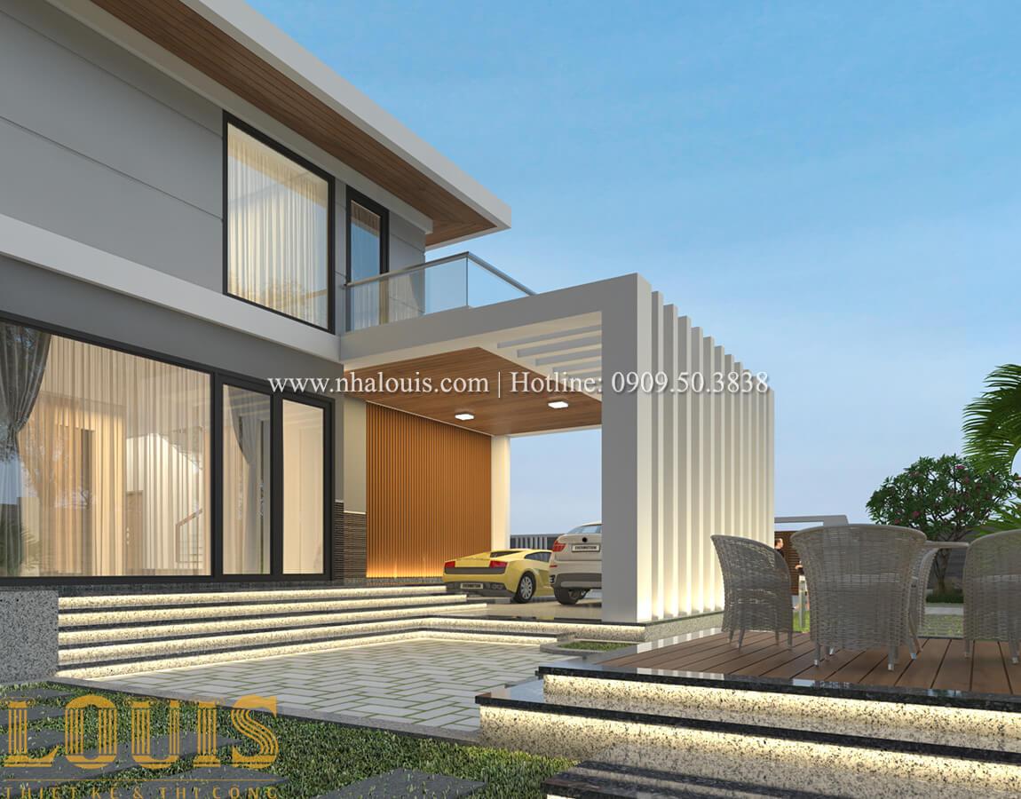 Mặt tiền biệt thự 2 tầng mái thái đẹp hiện đại - 14