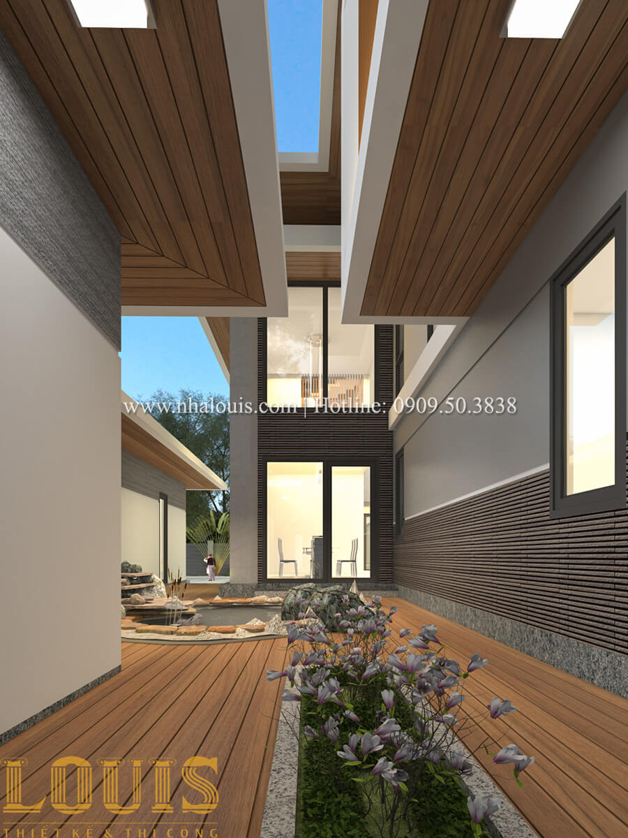 Góc thư giãn biệt thự 2 tầng mái thái đẹp hiện đại - 15
