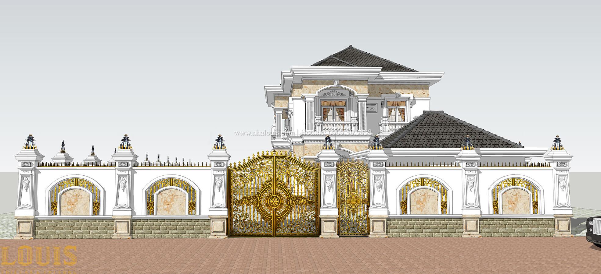 Thiết kế cổng ngoài Biệt thự 2 tầng cổ điển lộng lẫy và sang trọng tại Hóc Môn - 08