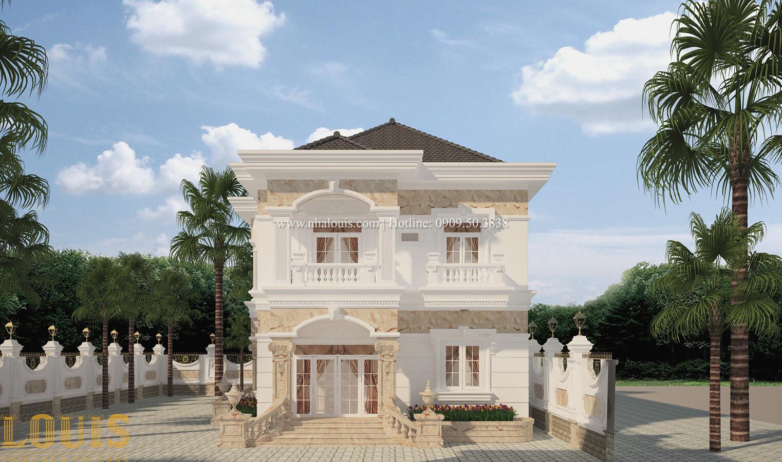 Mặt tiền Biệt thự 2 tầng cổ điển lộng lẫy và sang trọng tại Hóc Môn - 09