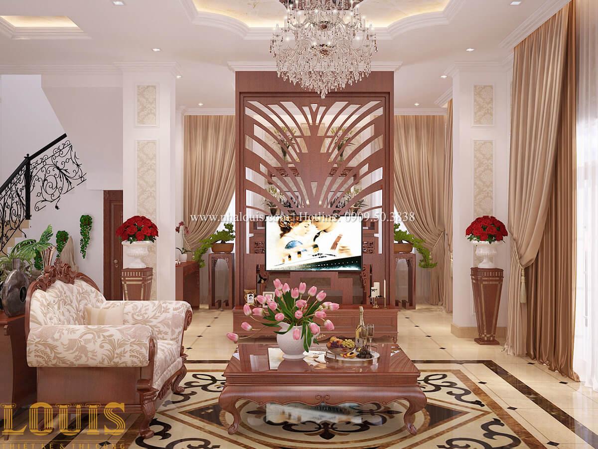 Phòng khách Biệt thự 2 tầng cổ điển lộng lẫy và sang trọng tại Hóc Môn - 12