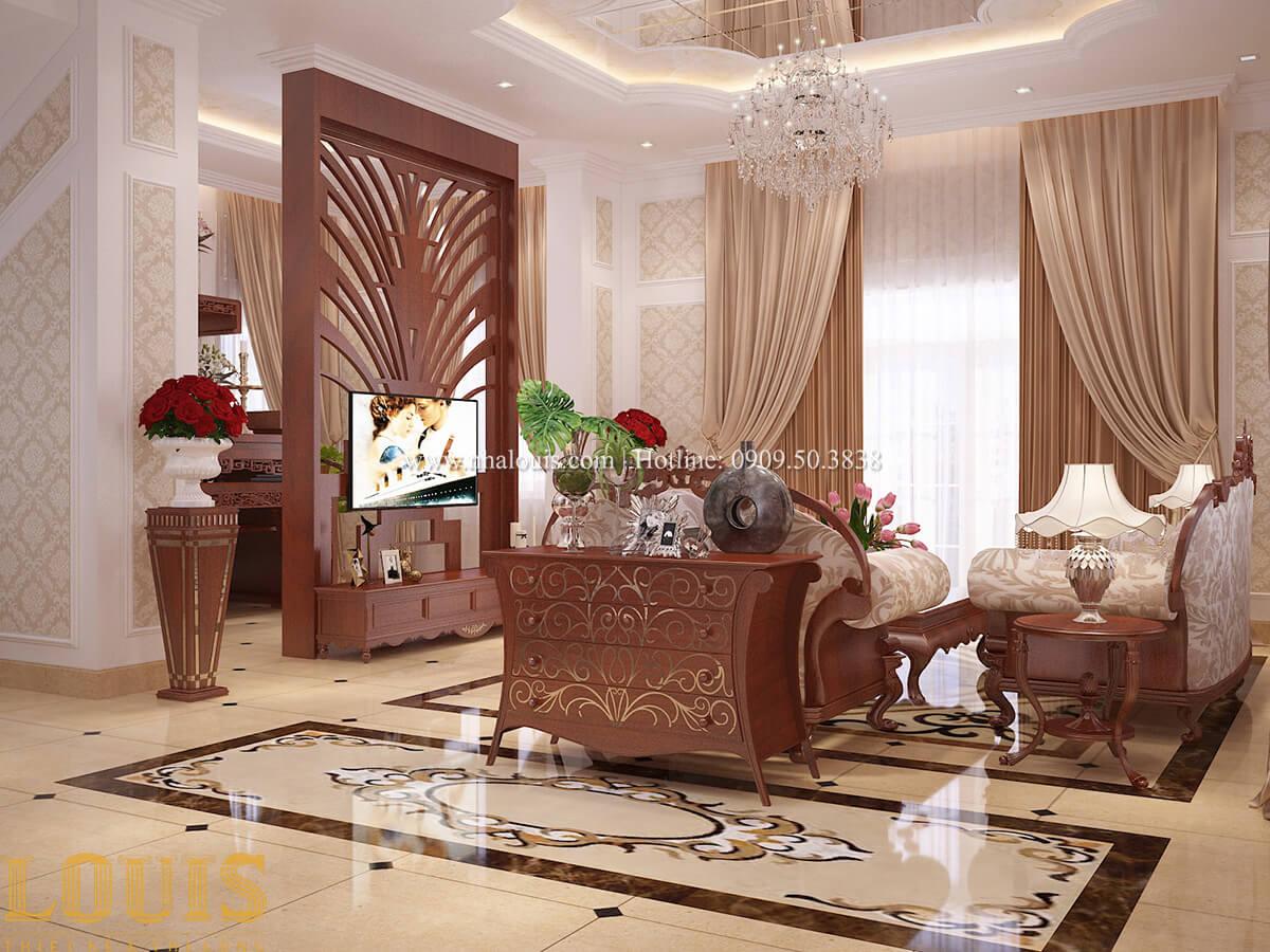 Phòng khách Biệt thự 2 tầng cổ điển lộng lẫy và sang trọng tại Hóc Môn - 21