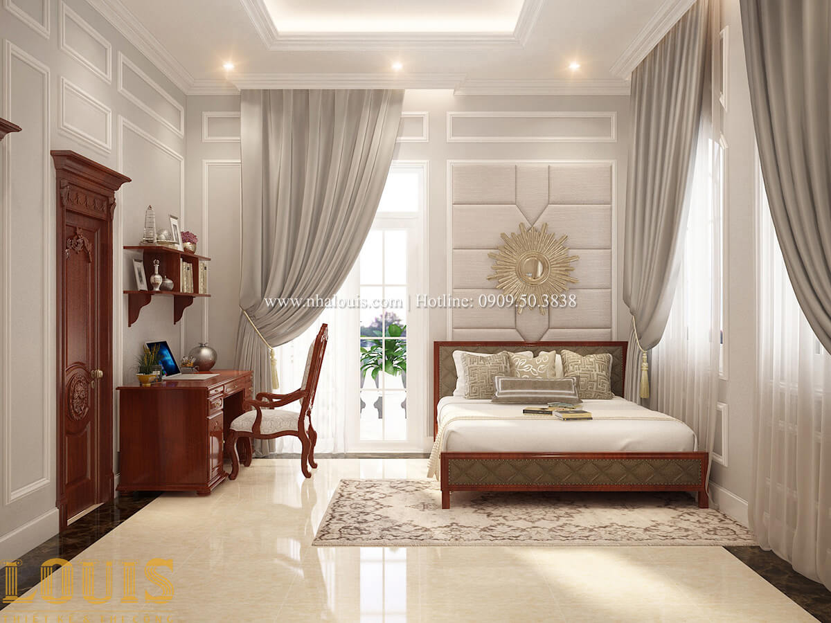 Phòng ngủ Biệt thự 2 tầng cổ điển lộng lẫy và sang trọng tại Hóc Môn - 34