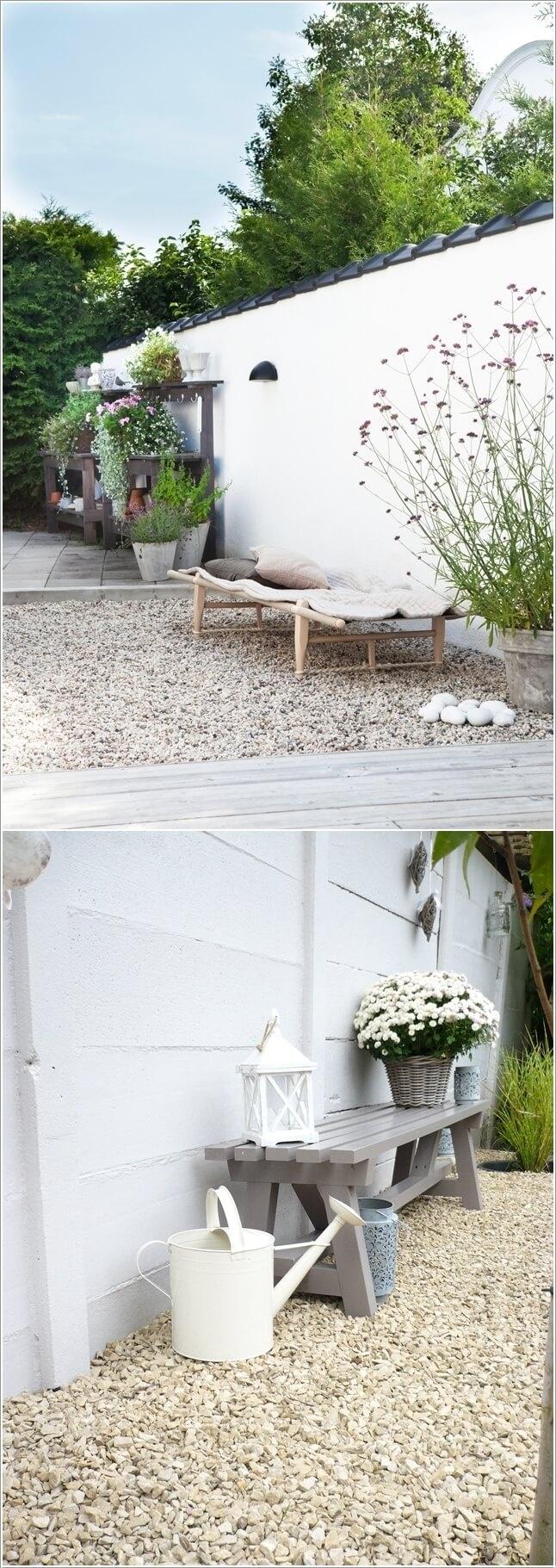 Hô biến không gian nhà đẹp lung linh nhờ sỏi trắng