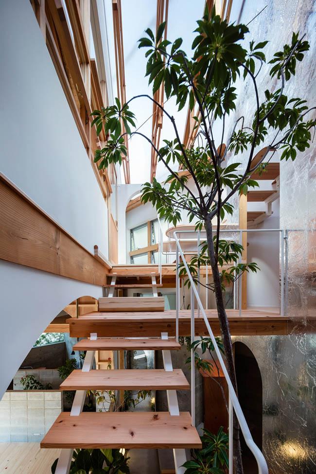 Mẫu nhà 2 tầng ấn tượng với kiến trúc mở triệu người mê