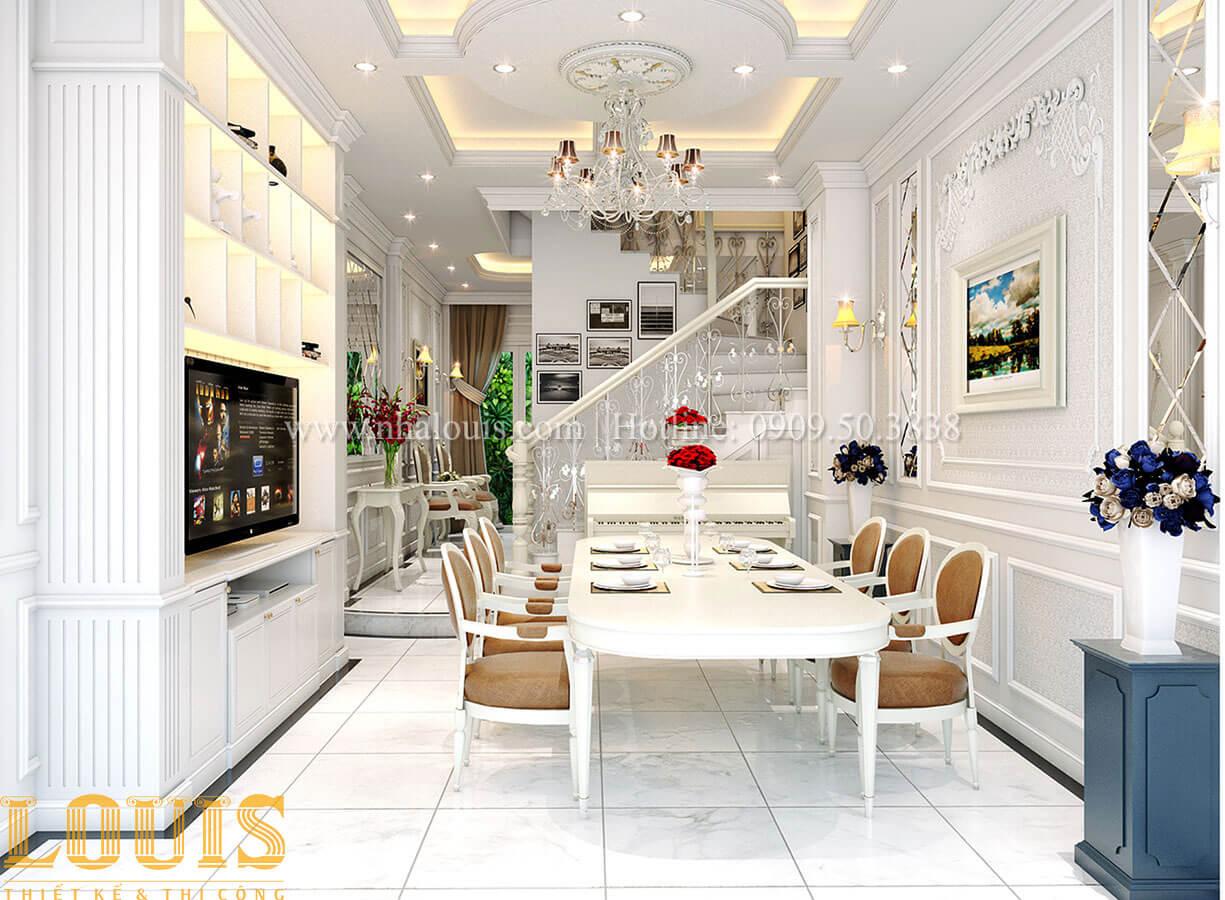 Phòng khách Nhà 4x15 phong cách tân cổ điển 4 tầng đẹp sang chảnh tại Gò Vấp - 09
