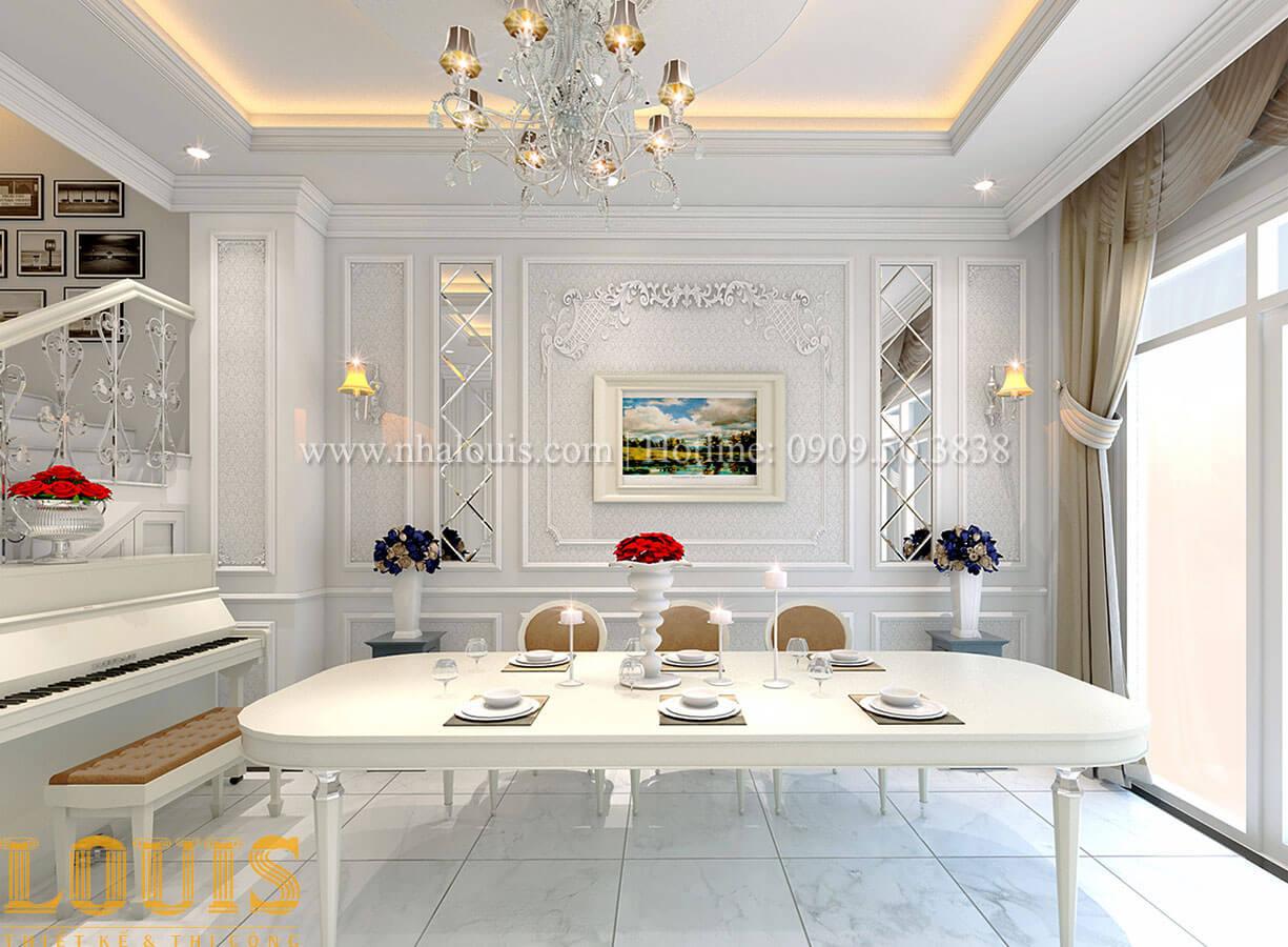 Phòng ăn Nhà 4x15 phong cách tân cổ điển 4 tầng đẹp sang chảnh tại Gò Vấp - 11