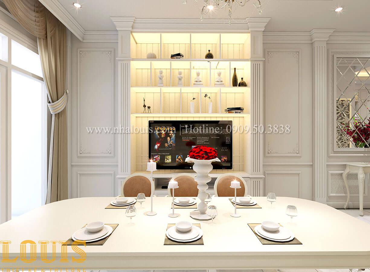 Phòng ăn Nhà 4x15 phong cách tân cổ điển 4 tầng đẹp sang chảnh tại Gò Vấp - 12