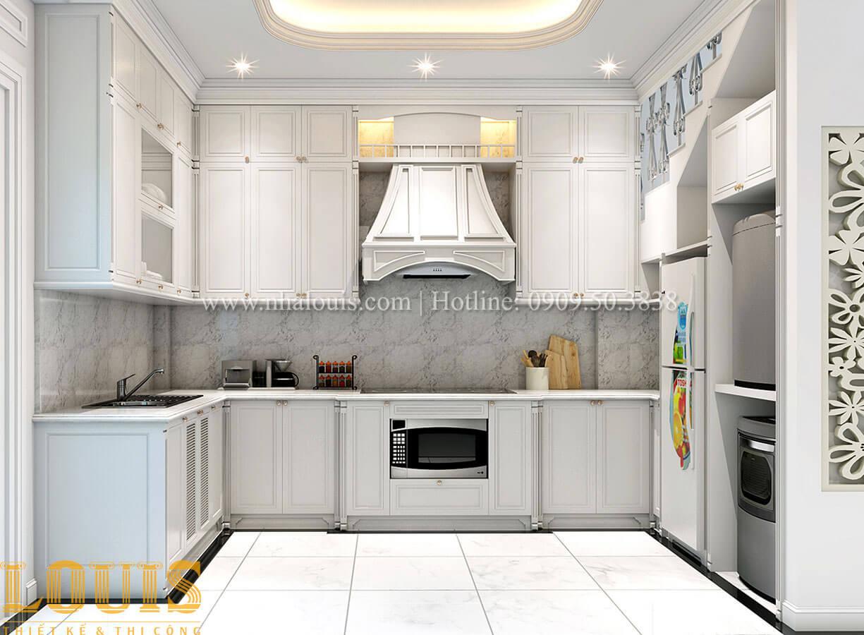 Phòng bếp Nhà 4x15 phong cách tân cổ điển 4 tầng đẹp sang chảnh tại Gò Vấp - 13
