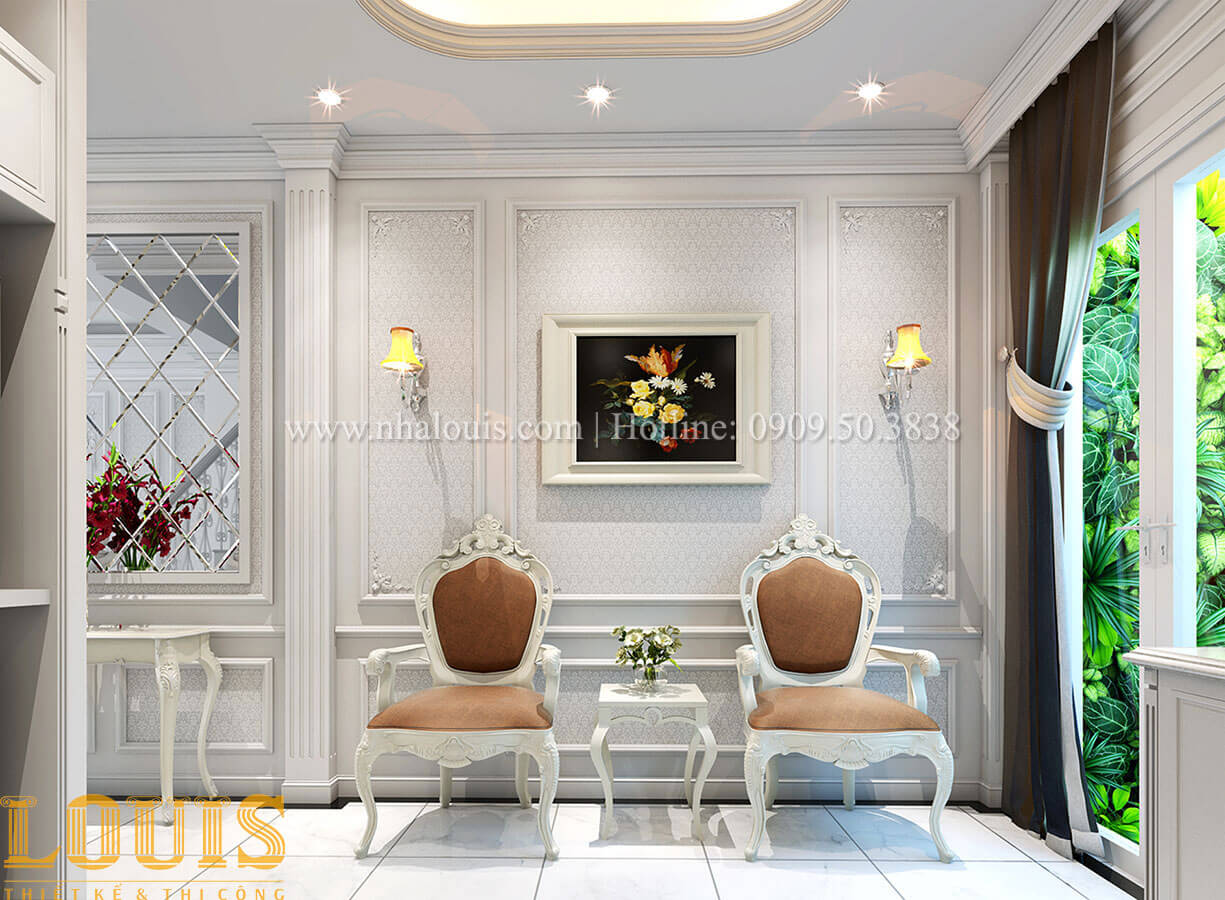 Góc thư giãn Nhà 4x15 phong cách tân cổ điển 4 tầng đẹp sang chảnh tại Gò Vấp - 14
