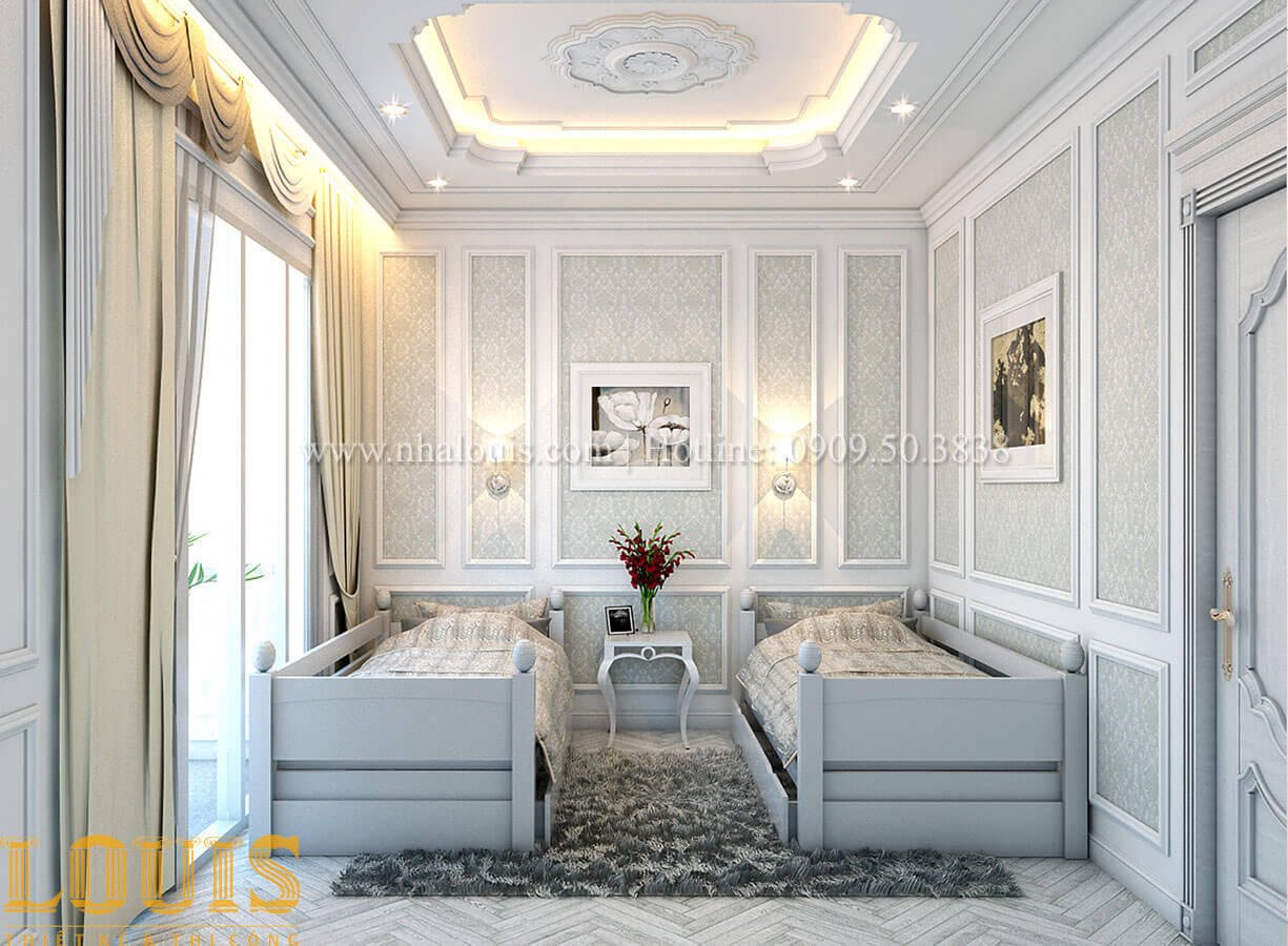 Phòng ngủ Nhà 4x15 phong cách tân cổ điển 4 tầng đẹp sang chảnh tại Gò Vấp - 22