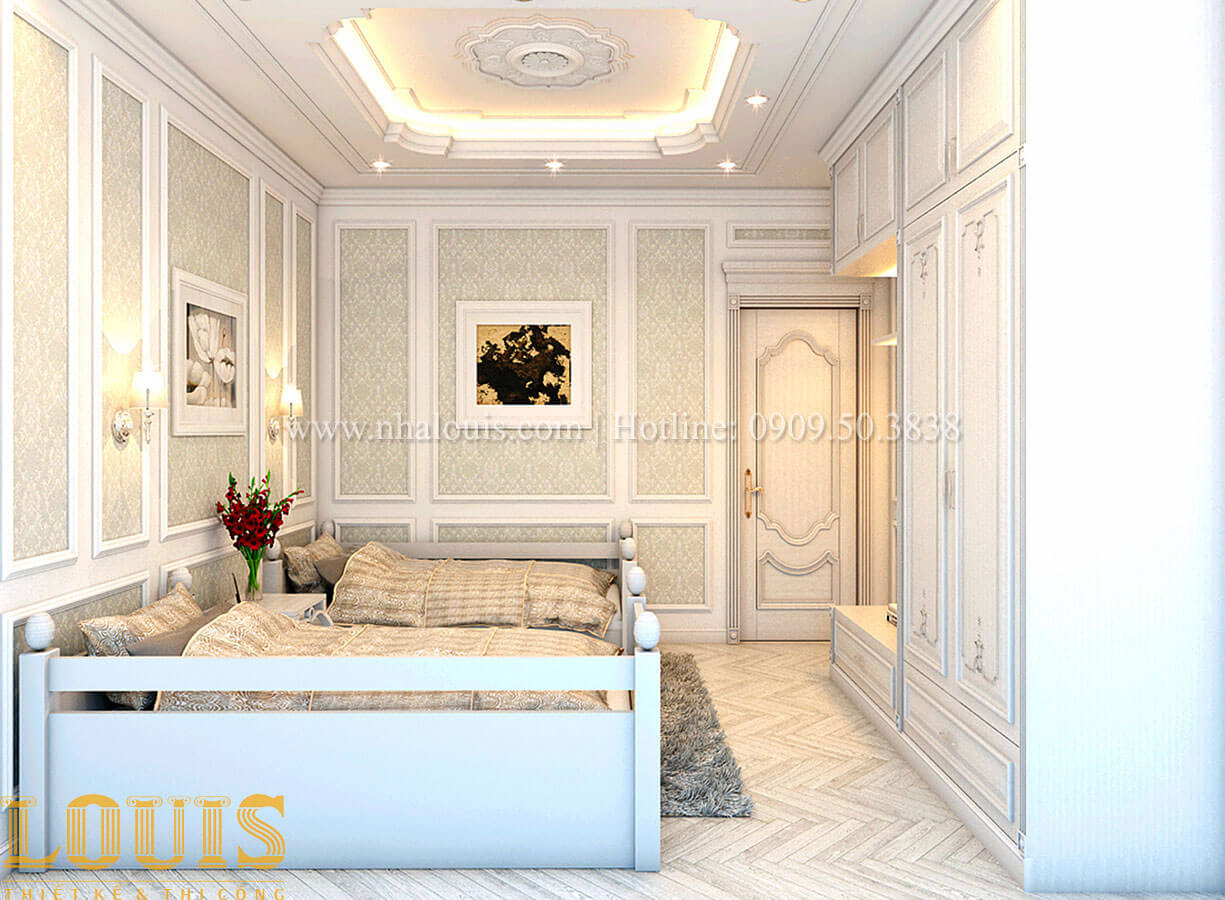 Phòng ngủ Nhà 4x15 phong cách tân cổ điển 4 tầng đẹp sang chảnh tại Gò Vấp - 23