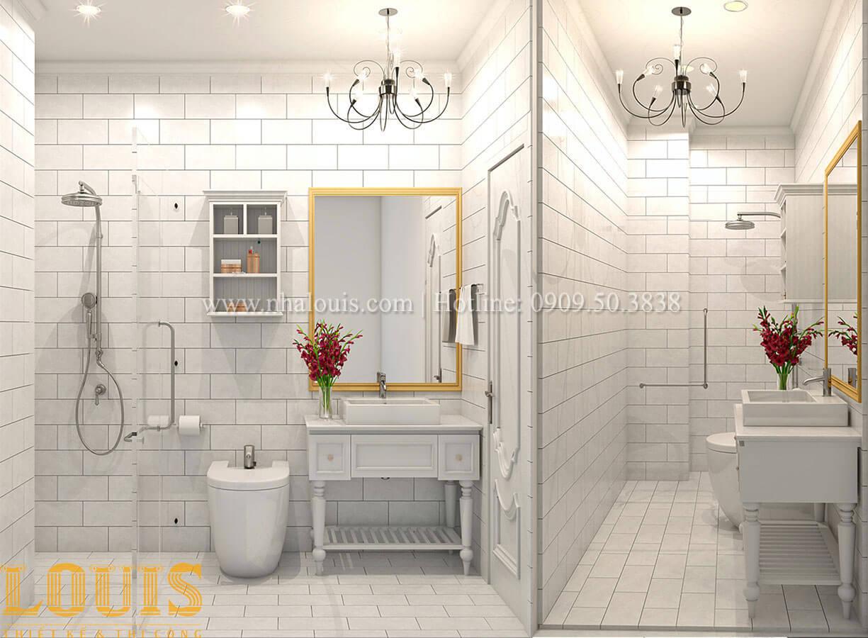 Phòng tắm & WC Nhà 4x15 phong cách tân cổ điển 4 tầng đẹp sang chảnh tại Gò Vấp - 31