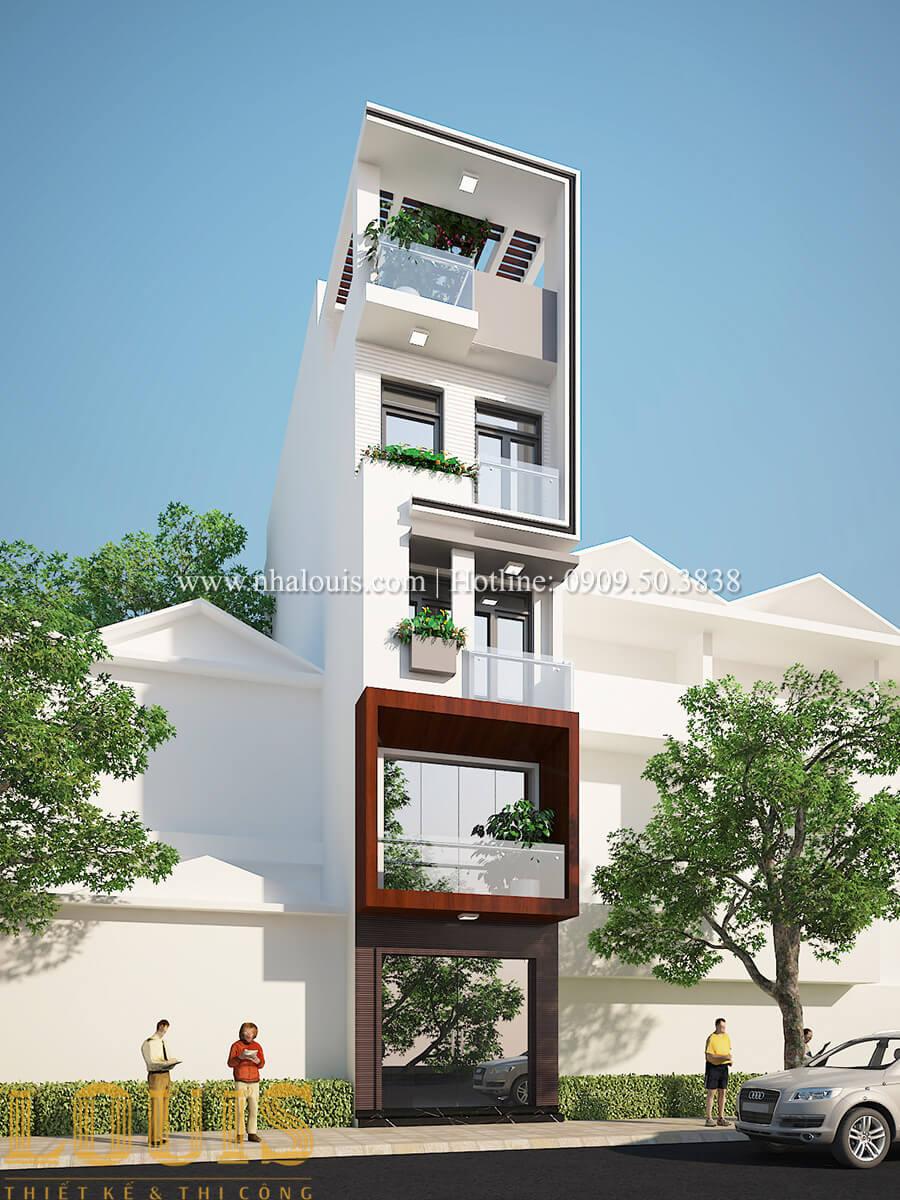 Mặt tiền Nhà ống hiện đại 5 tầng tối ưu không gian sống tại Quận 1 - 01