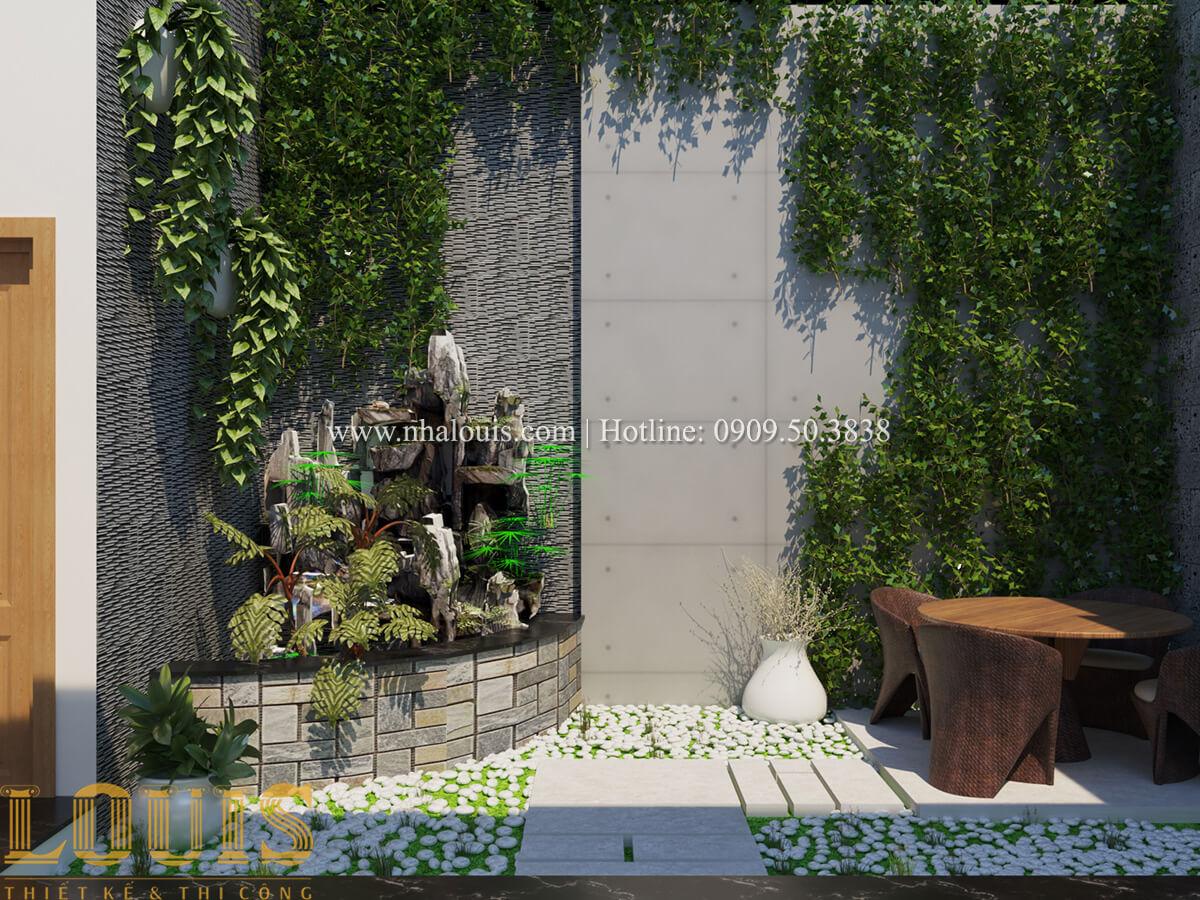 Mặt bằng tầng trệt Nhà phố bán cổ điển với thần thái cực chất tại Tân Bình 5