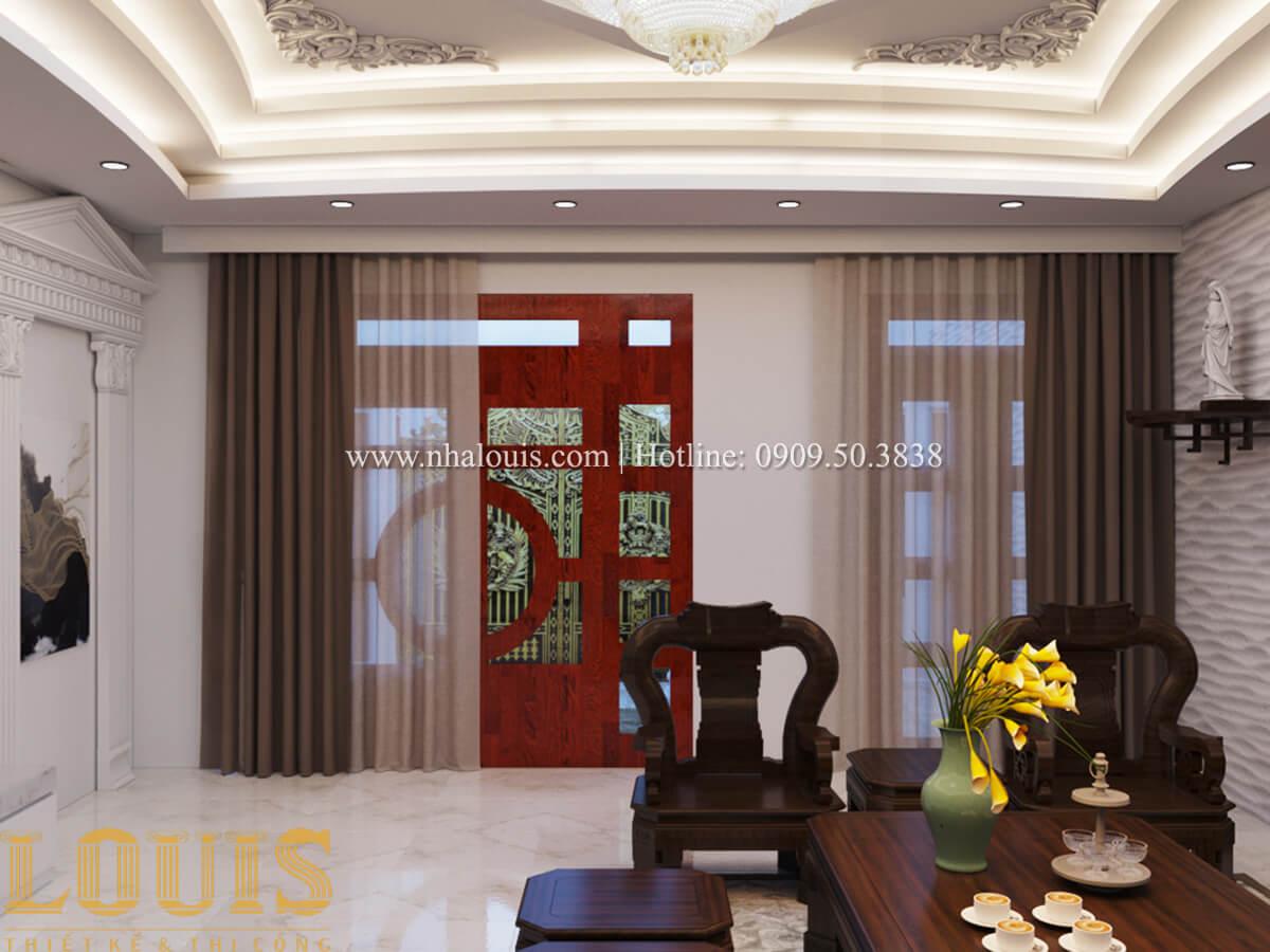 Mặt bằng tầng trệt Nhà phố bán cổ điển với thần thái cực chất tại Tân Bình 8