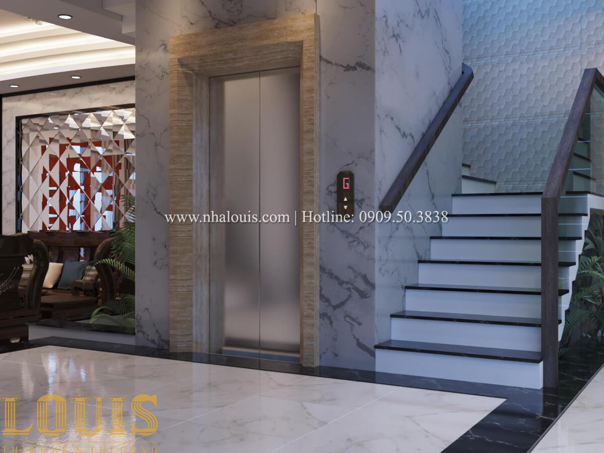 Mặt bằng tầng trệt Nhà phố bán cổ điển với thần thái cực chất tại Tân Bình 9
