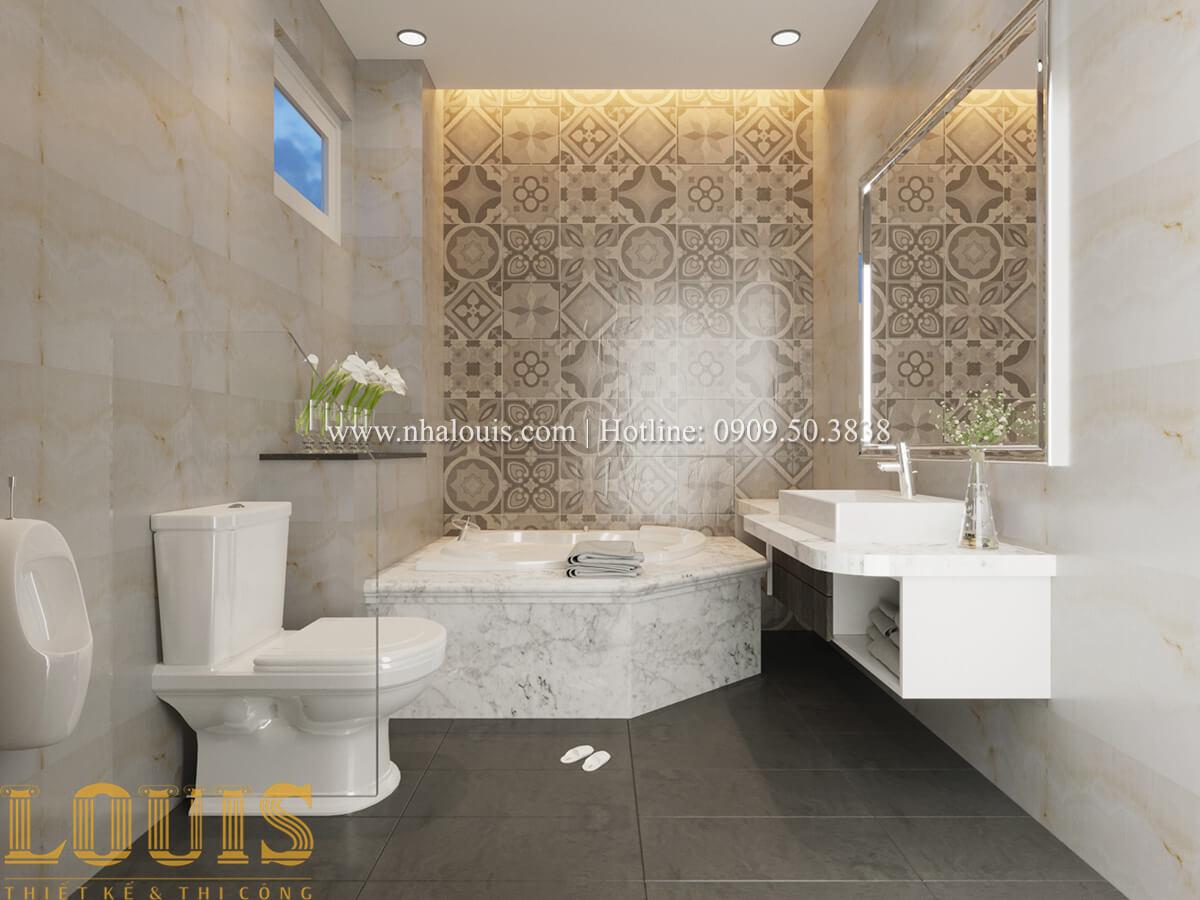 phòng wc Nhà phố bán cổ điển với thần thái cực chất tại Tân Bình 18