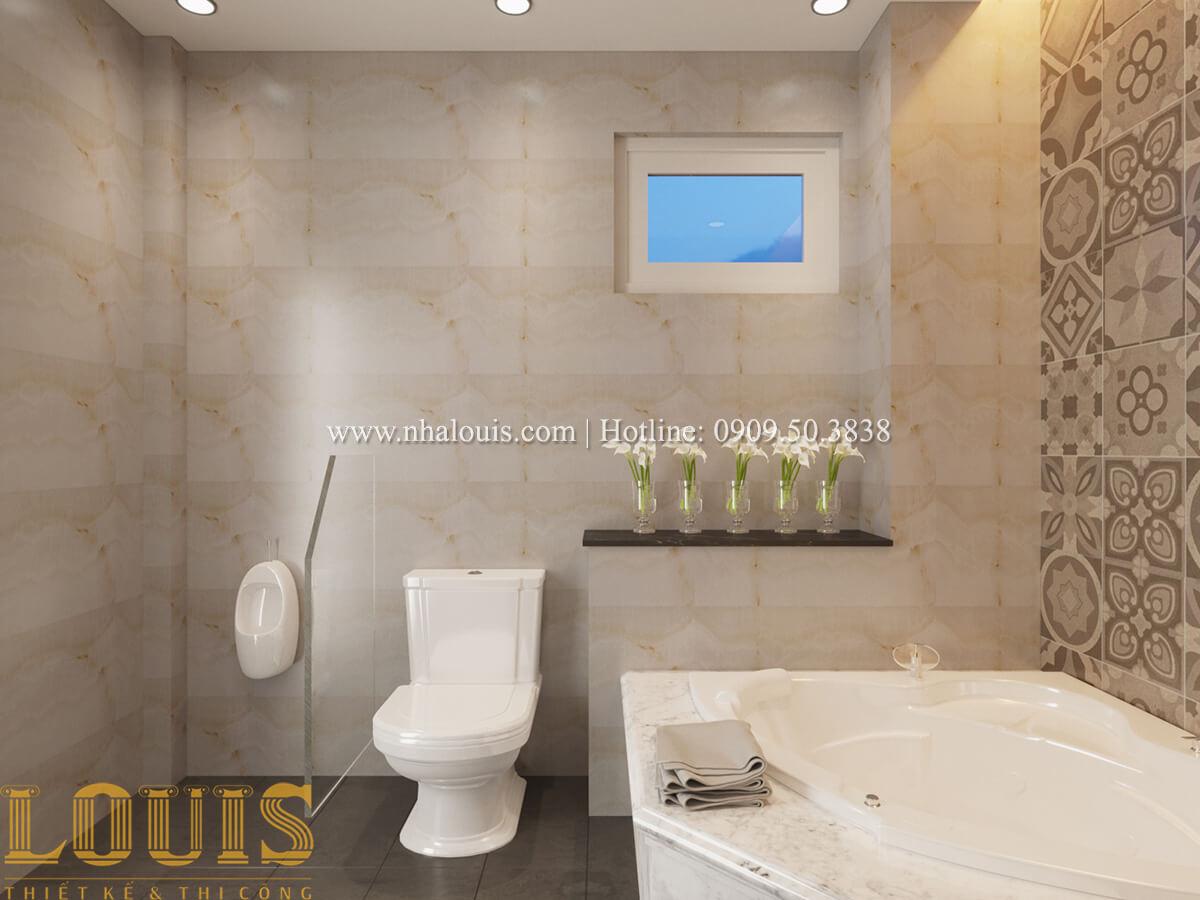 phòng wc Nhà phố bán cổ điển với thần thái cực chất tại Tân Bình 19