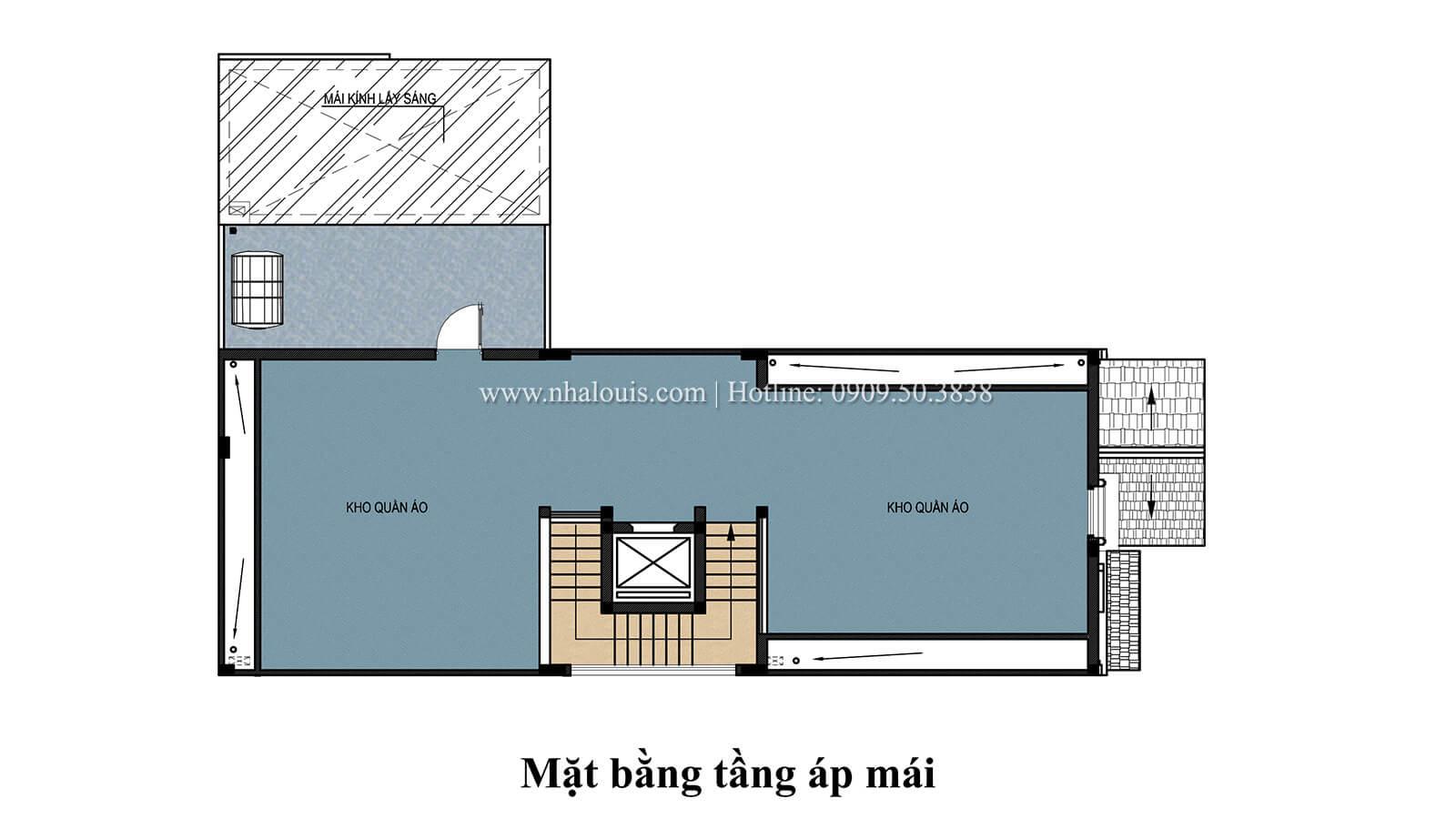 Mặt bằng áp mái Nhà phố bán cổ điển với thần thái cực chất tại Tân Bình - 29