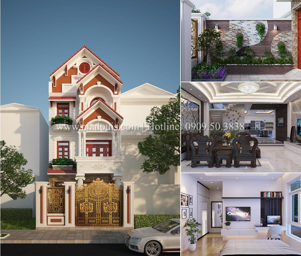 Nhà phố bán cổ điển 4 tầng với thần thái cực chất tại Tân Bình