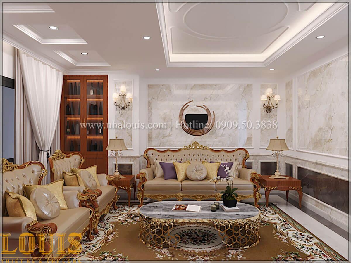 Phòng khách Thiết kế tiệm vàng 5 tầng tân cổ điển đẹp không tì vết tại Nhà Bè - 09