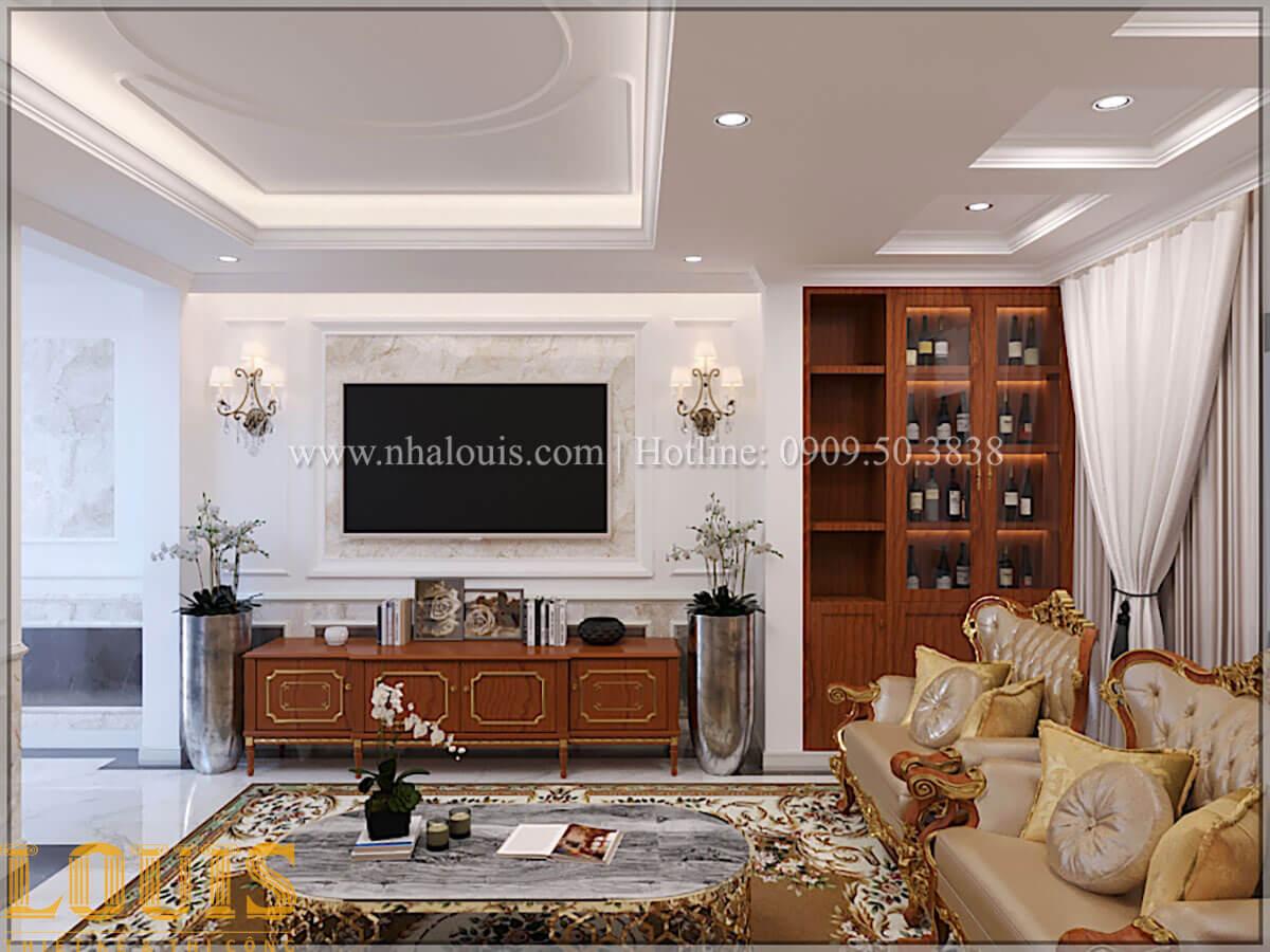 Phòng khách Thiết kế tiệm vàng 5 tầng tân cổ điển đẹp không tì vết tại Nhà Bè - 10