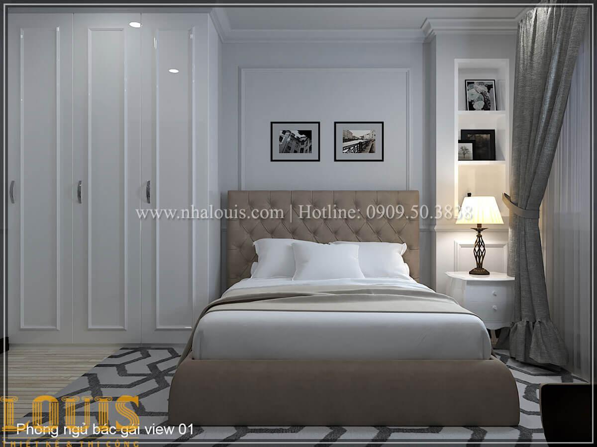 Phòng ngủ Thiết kế tiệm vàng 5 tầng tân cổ điển đẹp không tì vết tại Nhà Bè - 12