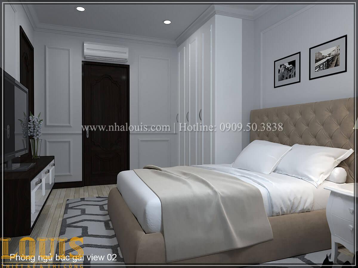 Phòng ngủ Thiết kế tiệm vàng 5 tầng tân cổ điển đẹp không tì vết tại Nhà Bè - 13