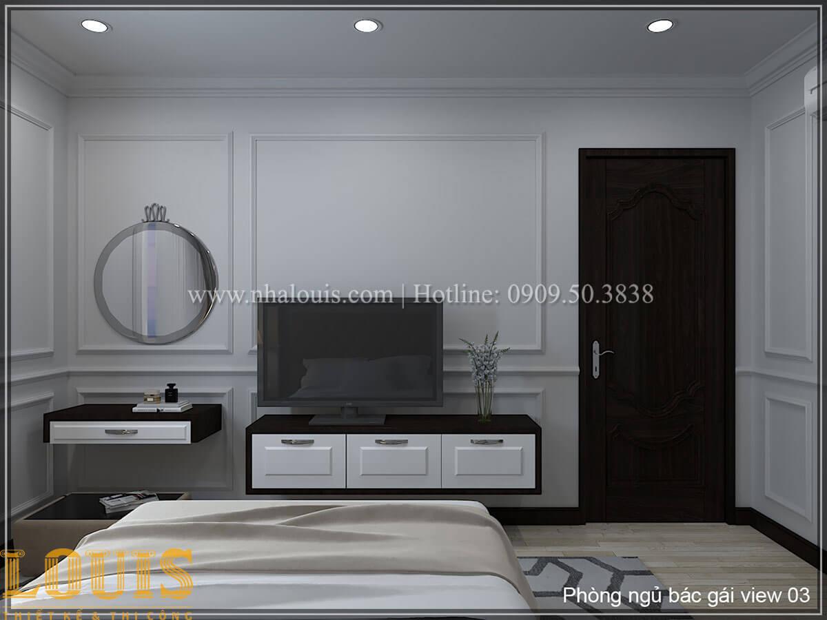 Phòng ngủ Thiết kế tiệm vàng 5 tầng tân cổ điển đẹp không tì vết tại Nhà Bè - 14