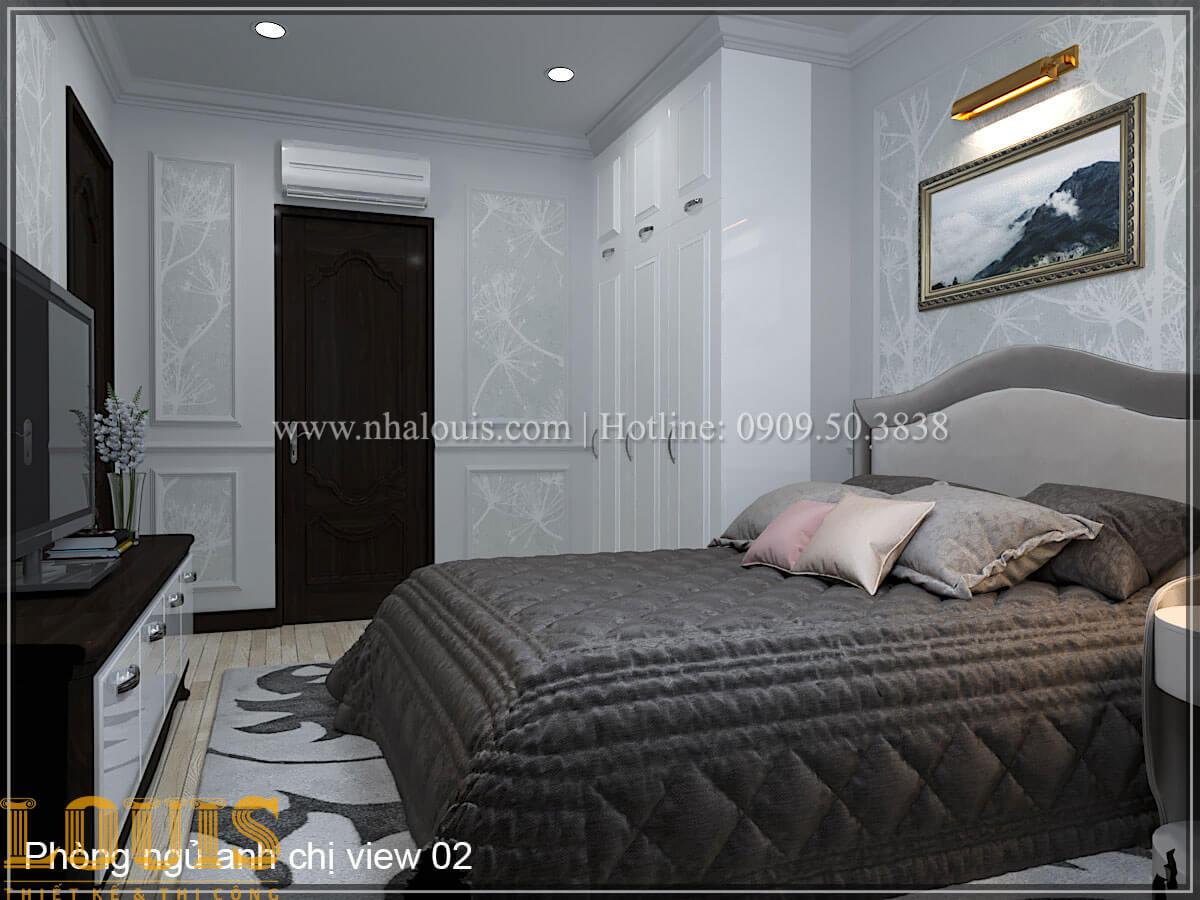 Phòng ngủ Thiết kế tiệm vàng 5 tầng tân cổ điển đẹp không tì vết tại Nhà Bè - 22