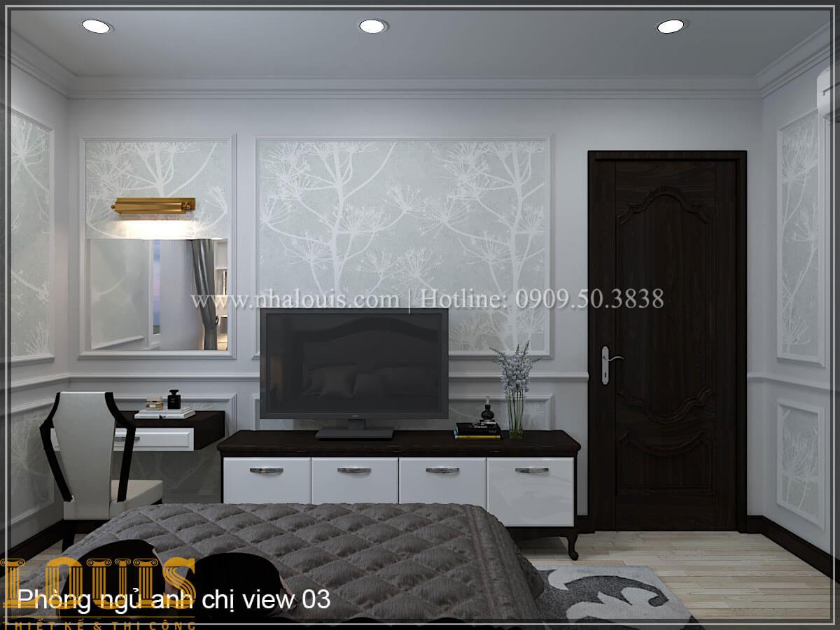 Phòng ngủ Thiết kế tiệm vàng 5 tầng tân cổ điển đẹp không tì vết tại Nhà Bè - 23