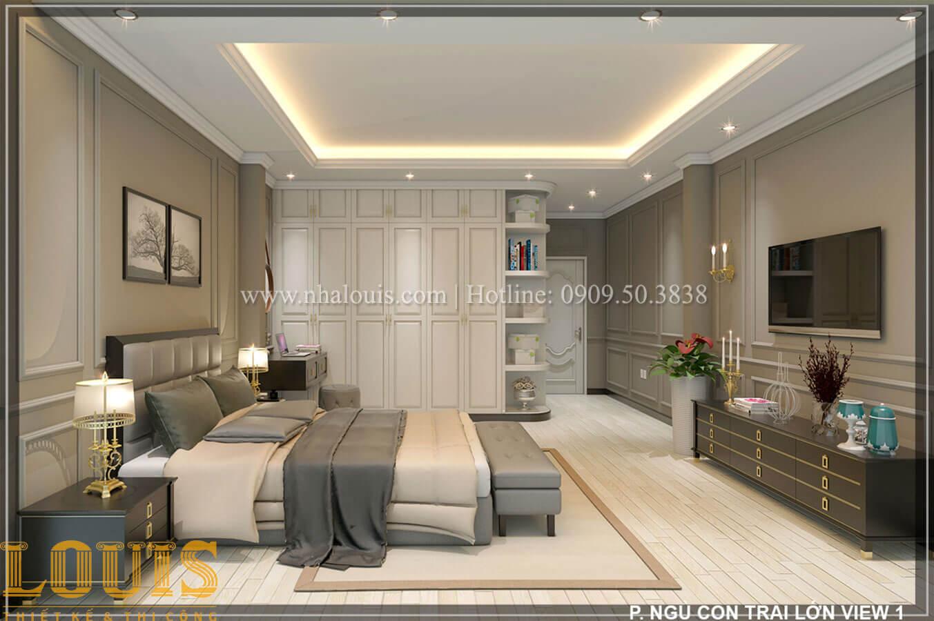 Phòng ngủ Thiết kế tiệm vàng 5 tầng tân cổ điển đẹp không tì vết tại Nhà Bè - 24