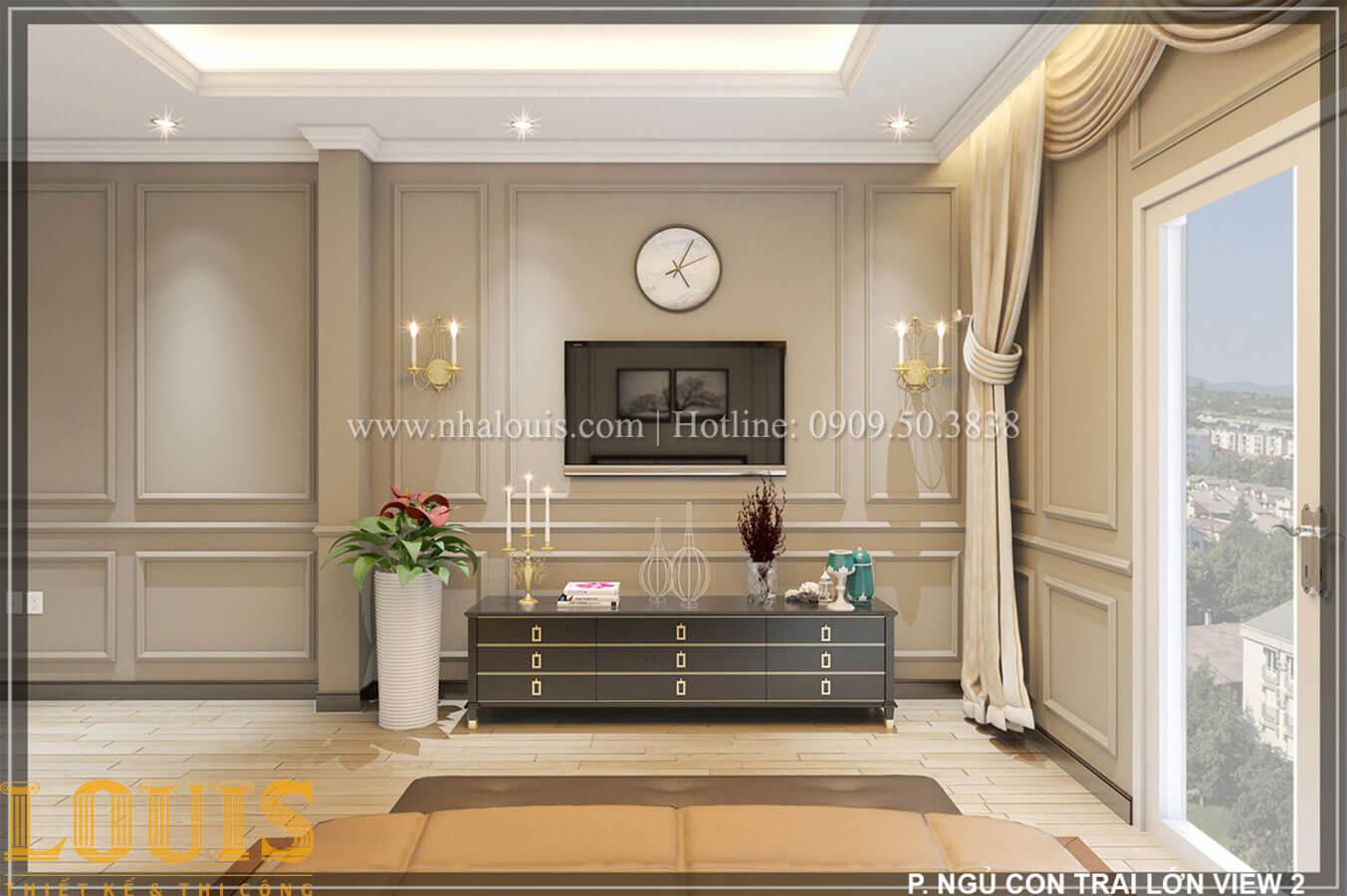 Phòng ngủ Thiết kế tiệm vàng 5 tầng tân cổ điển đẹp không tì vết tại Nhà Bè - 25