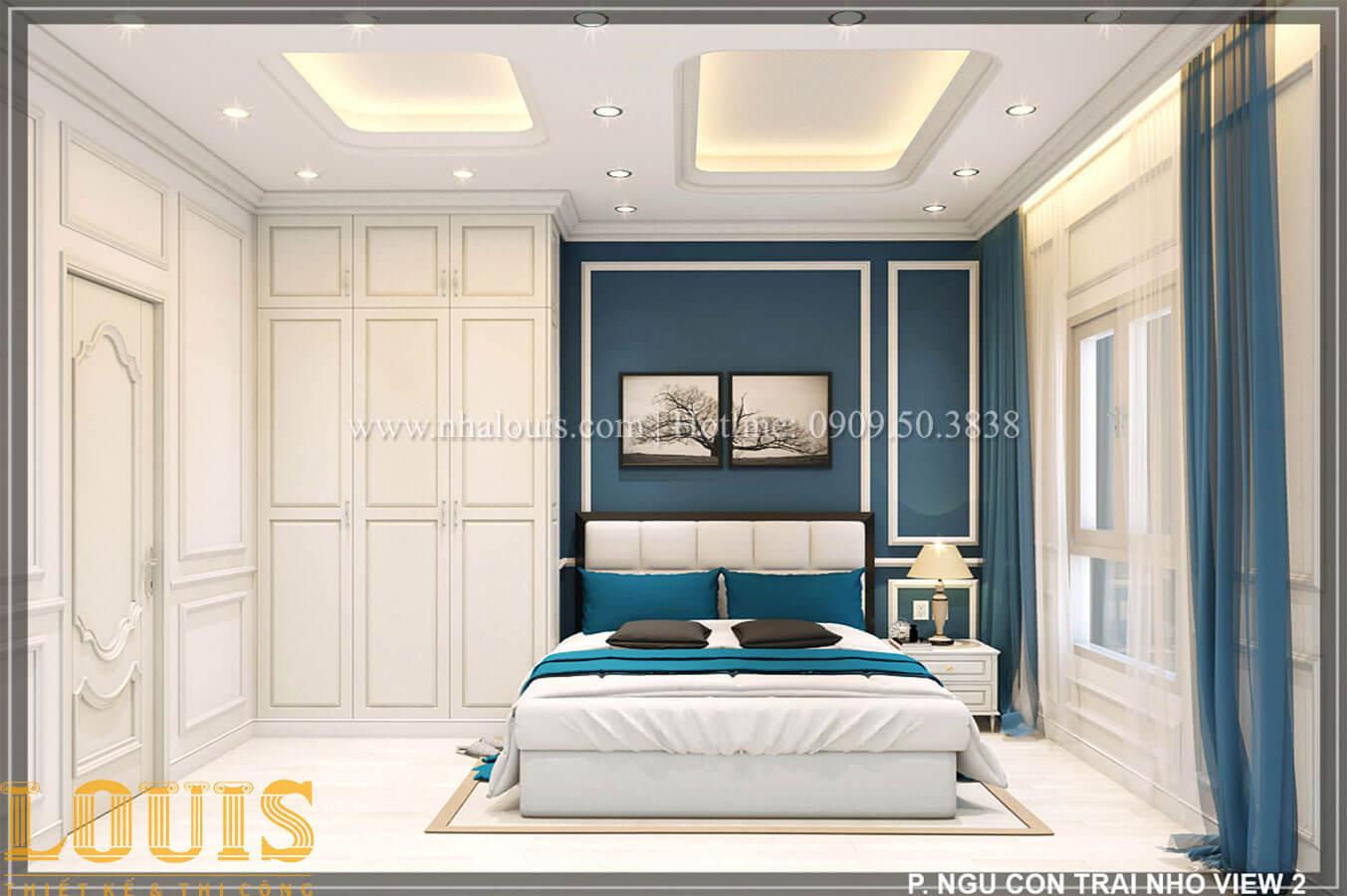 Phòng ngủ Thiết kế tiệm vàng 5 tầng tân cổ điển đẹp không tì vết tại Nhà Bè - 27
