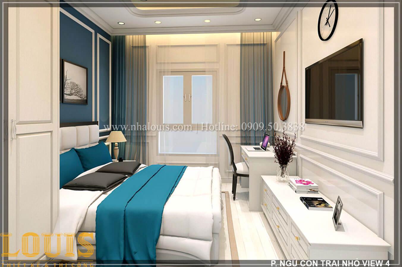 Phòng ngủ Thiết kế tiệm vàng 5 tầng tân cổ điển đẹp không tì vết tại Nhà Bè - 29