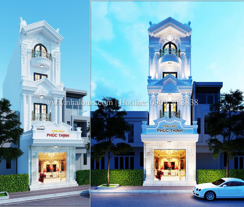Thiết kế tiệm vàng 5 tầng tân cổ điển đẹp không tì vết tại Nhà Bè