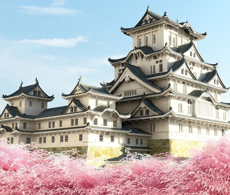 Trầm trồ trước vẻ đẹp thanh tao của lâu đài Himeji ở Nhật Bản