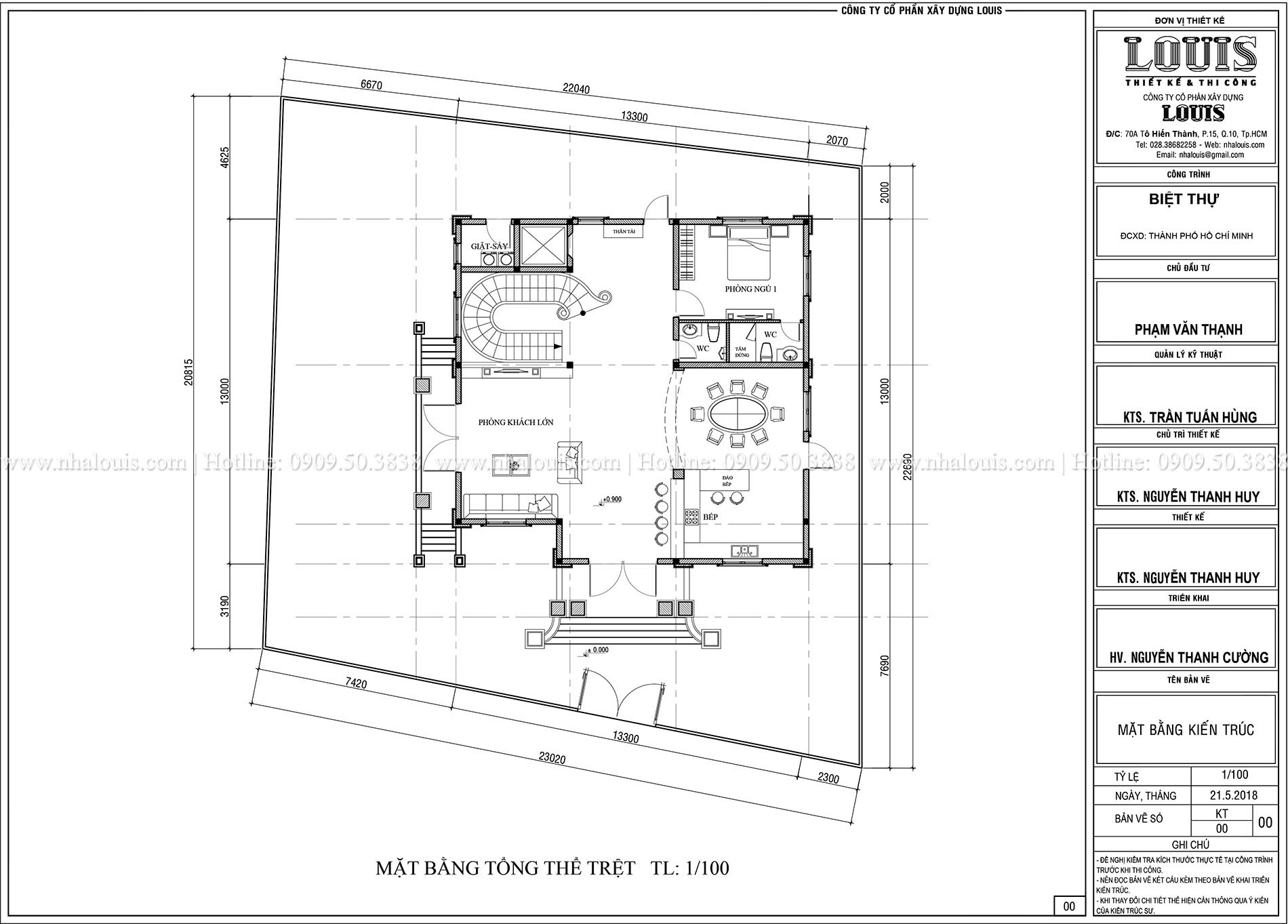 Mặt bằng tổng thể Biệt thự Châu Âu cổ điển chuẩn sang chảnh tại Nhà Bè - 005