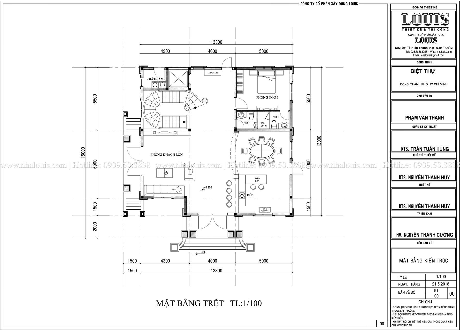 Mặt bằng tầng trệt Biệt thự Châu Âu cổ điển chuẩn sang chảnh tại Nhà Bè - 006